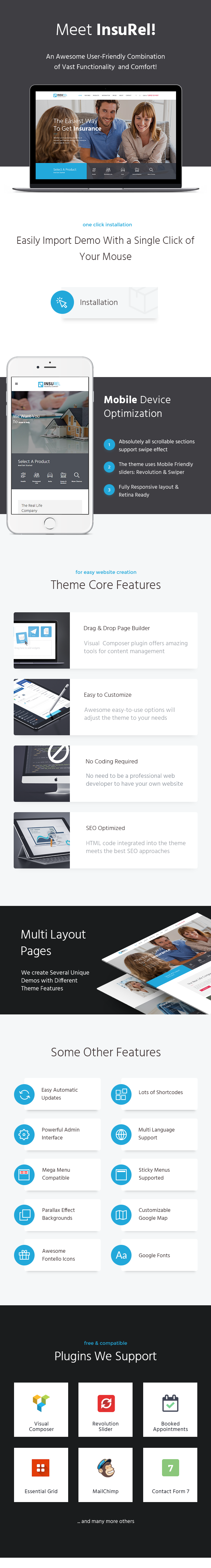 InsuRel | Insurance & Finance WordPress Theme - 2