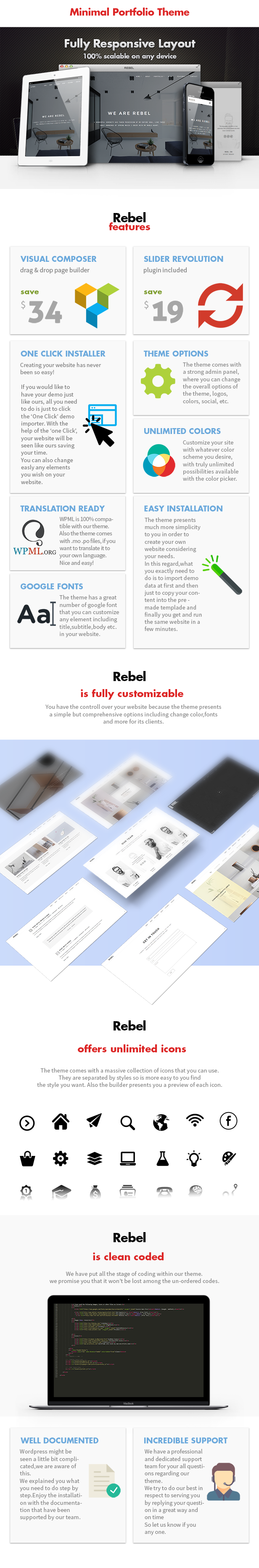 Rebel - Minimal Portfolio WordPress Theme - 6