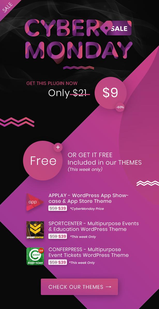 wordpress theme cyber monday sale off