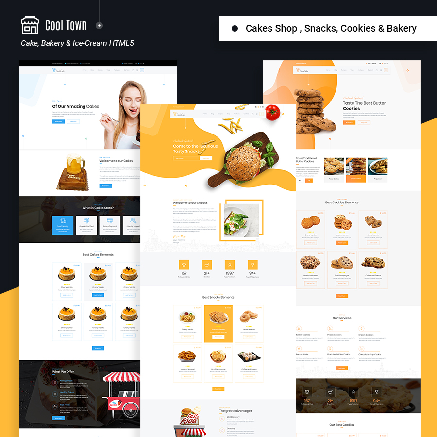 Cool Town | Cakery & Bakery HTML5 Template - 2