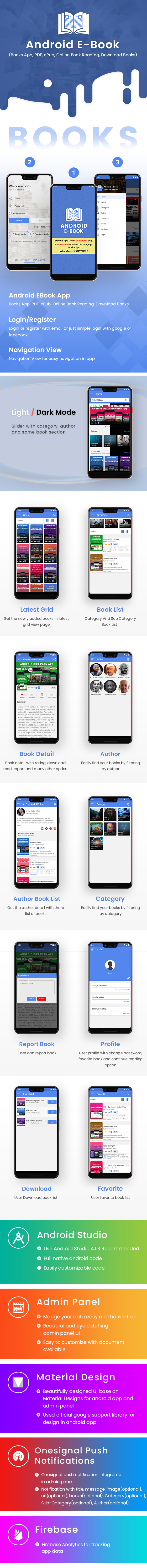 Android EBook App with Material Design