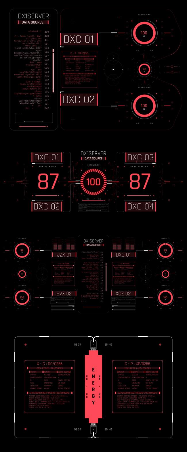 AE脚本-500个HUD高科技赛博朋克UI科幻界面元素动画预设包 Cyberpunk HUD UI 500+ 已修复中文版AE表达式报错插图33