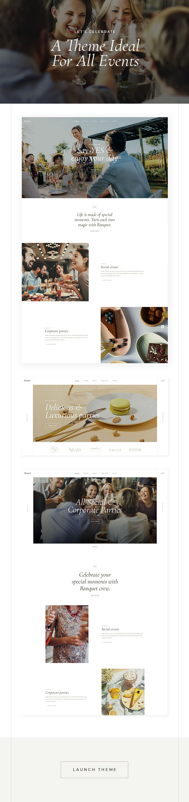 Banquet - Catering and Event Planning Theme - 2