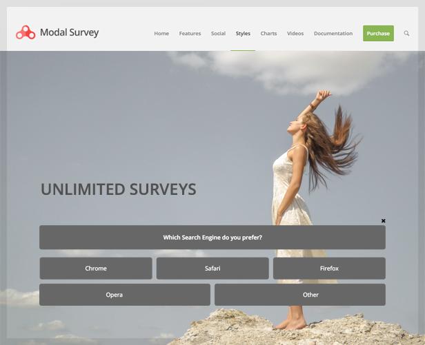 Full Width Style WordPress Survey & Poll Plugin