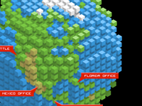 Earth Made of Cubes