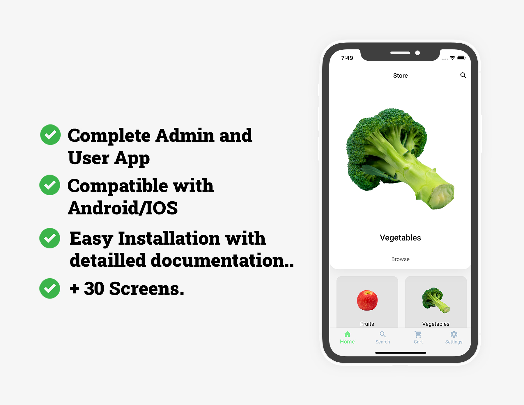 Flutter Grocery: Full Android + iOS eCommerce App - 6