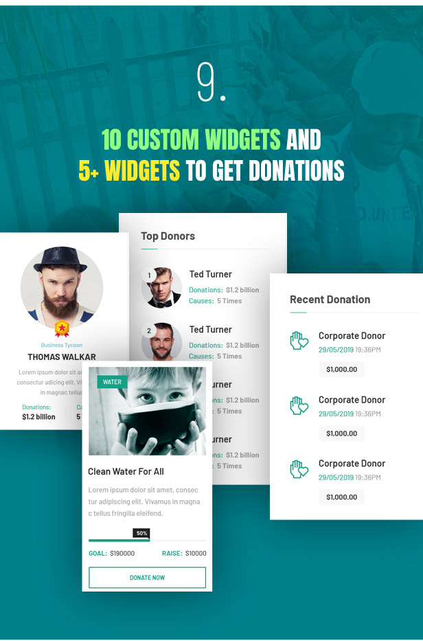 Lifeline 2 - An Ultimate Nonprofit WordPress Theme for Charity, Fundraising and NGO Organizations - 11