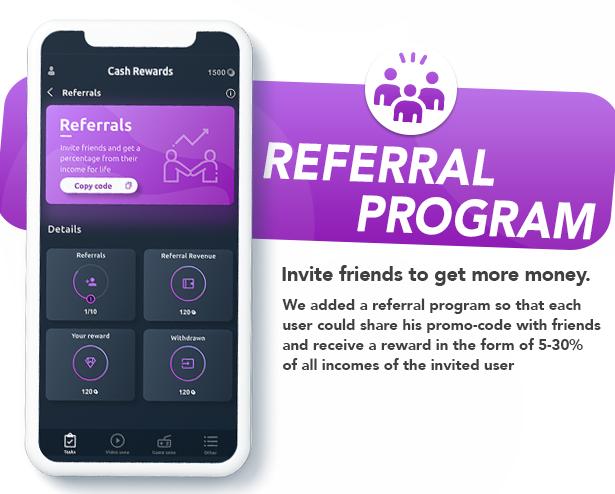 Cash Rewards - CPI Offers & Rewards App + PHP Laravel Admin Panel - 7