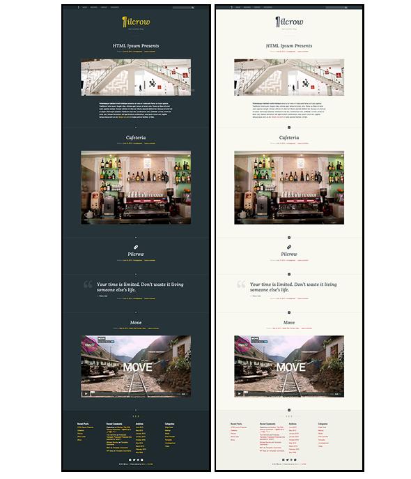 Pilcrow - AJAX powered WordPress Blog Theme - 1