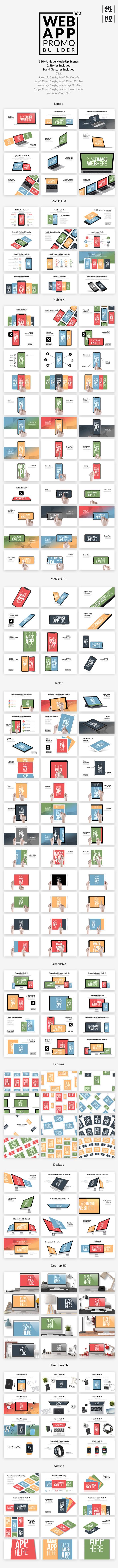 AE模板+PR预设-扁平化APP宣传介绍手机平板电脑iPhoneX iPad工具包
