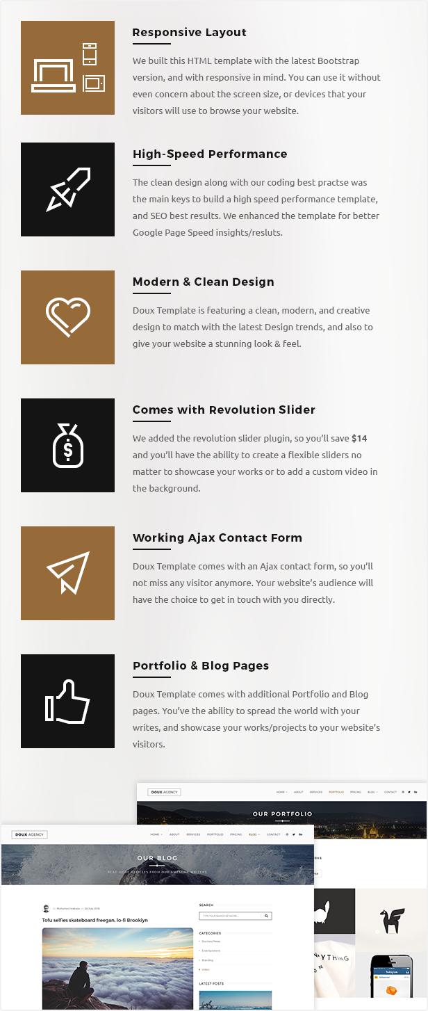 One Page HTML Template