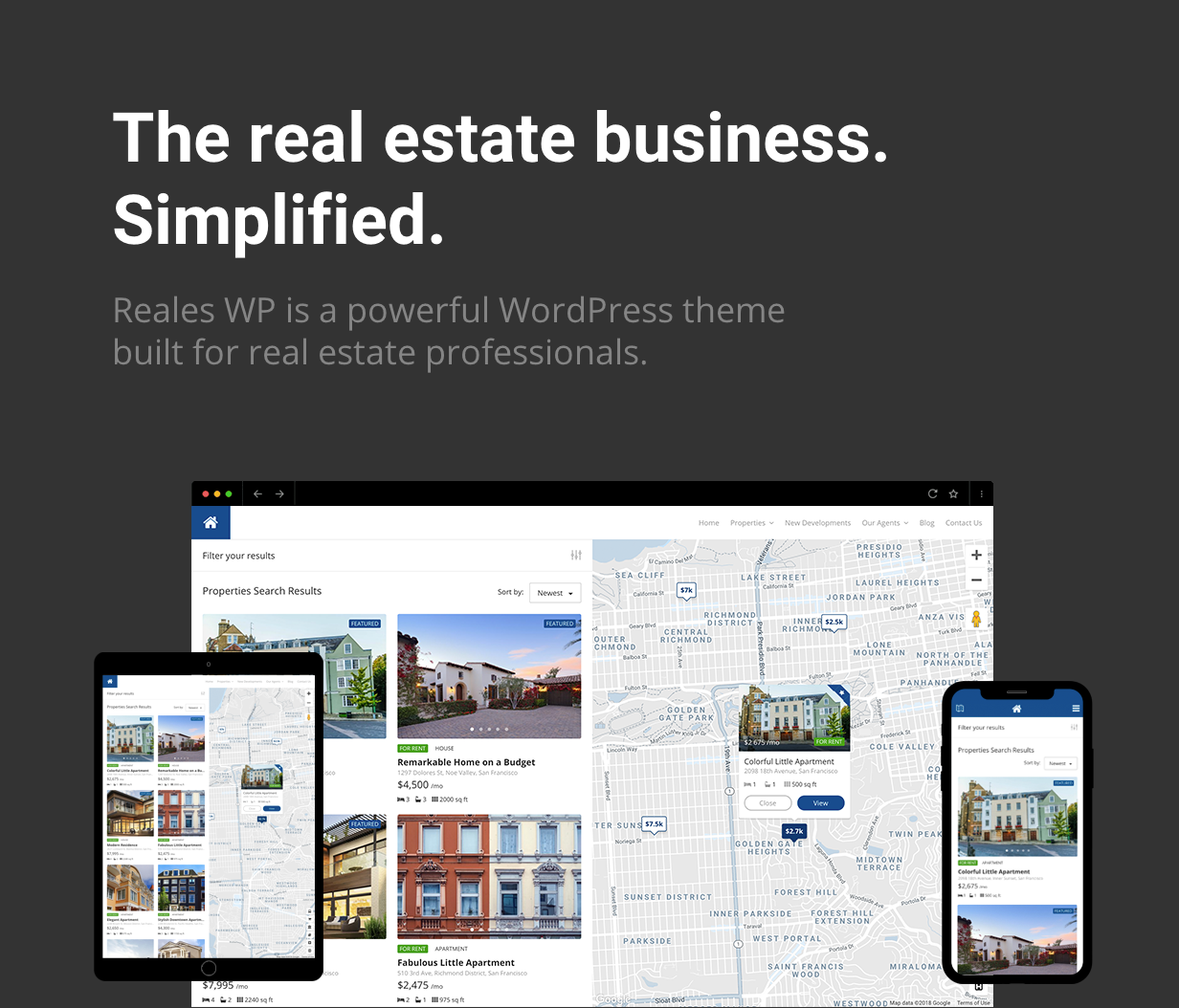 Reales WP - Real Estate WordPress Theme - 1