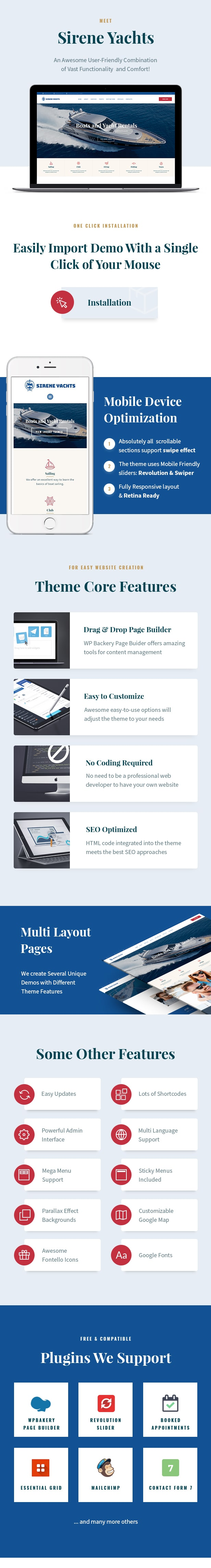 Sirene | Yacht Charter Services & Boat Rental WordPress Theme - 1