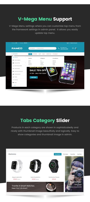 Rameo - Multipurpose Theme for WooCommerce WordPress 4