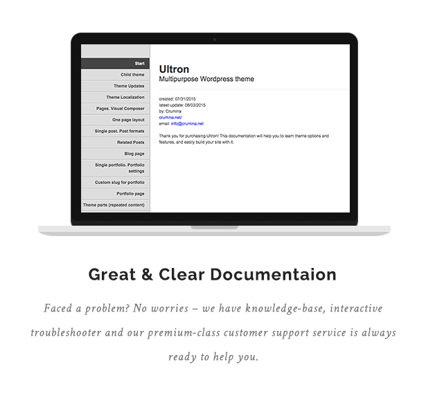 Great & Clear Documentation