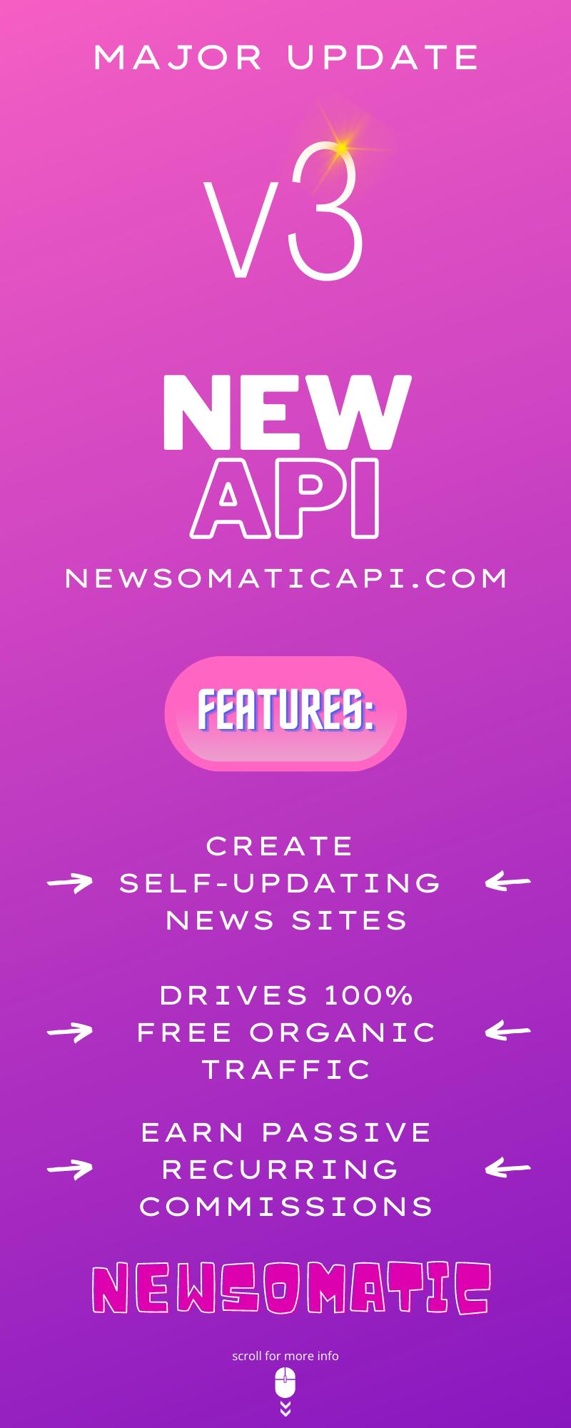 Newsomatic v3 update