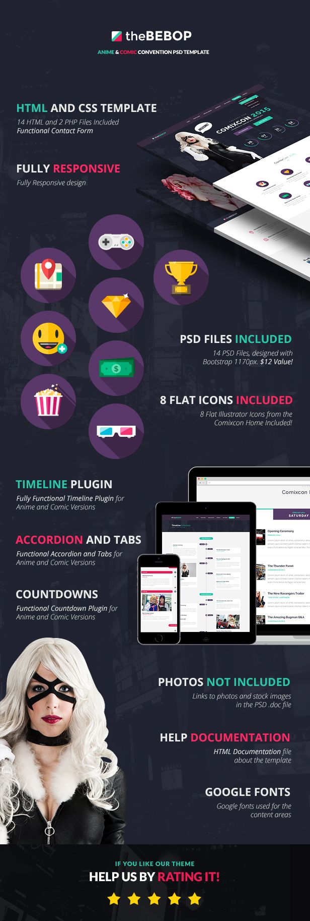 The Bebop Anime and Comic HTML Convention Template - 7