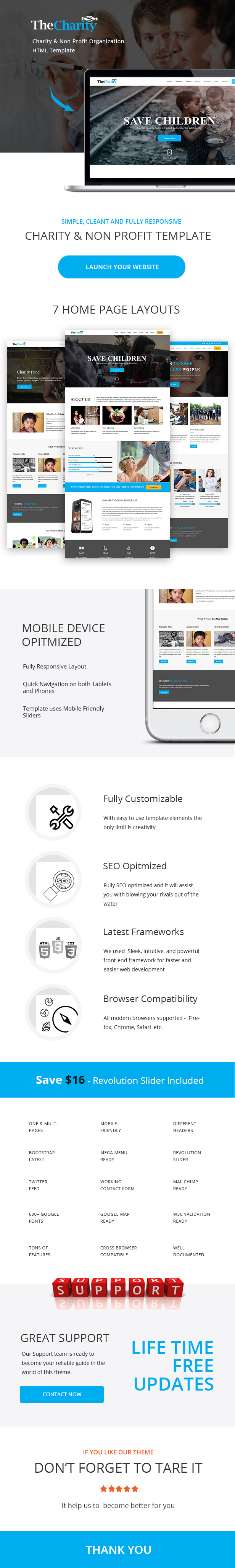 the charity html template for charity non profit organization by