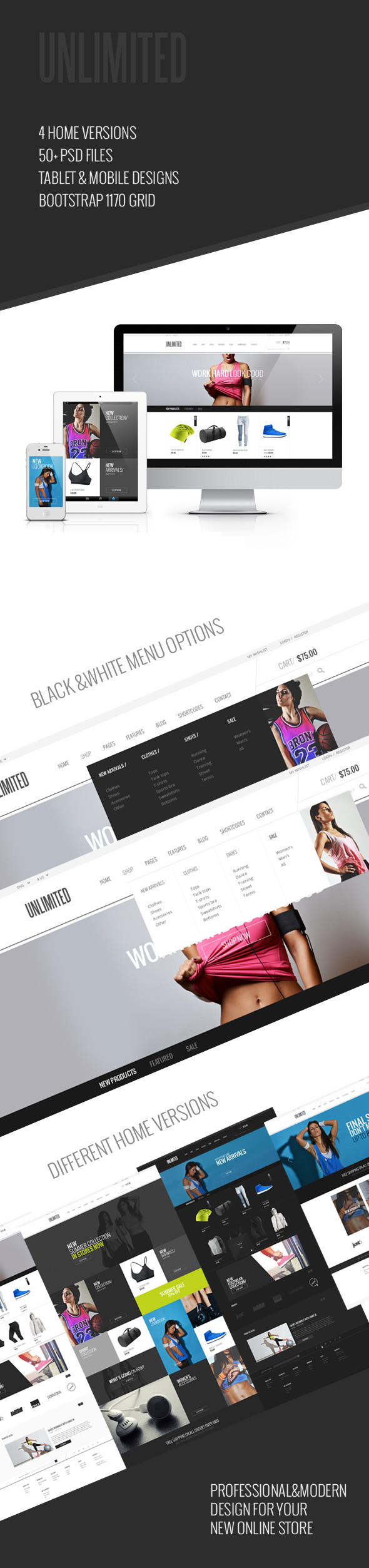 Unlimited - eCommerce PSD Template - 1