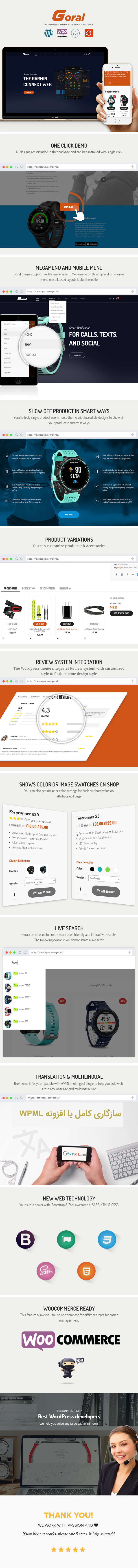 Goral SmartWatch - Single Product Woocommerce WordPress Theme - 1