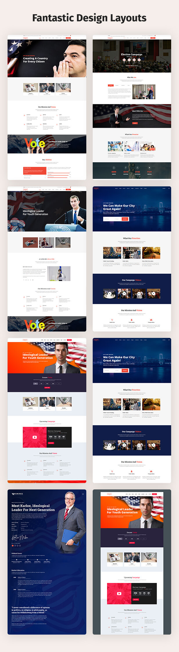 Political WordPress Theme Home Variation