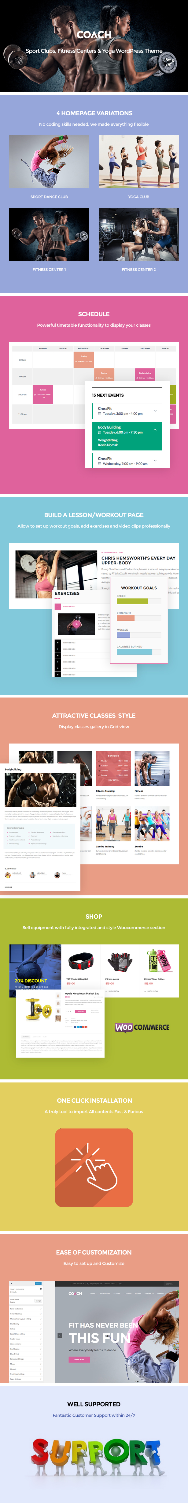 Coach - Sport Clubs, Fitness Centers & Courses WordPress Theme
