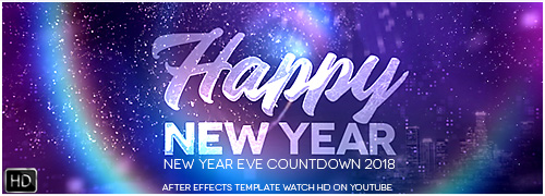 New Year Countdown 2018 Template