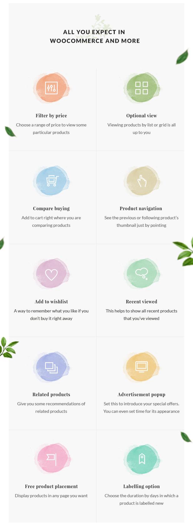 Organic Store WordPress theme - WooCommerce integrated