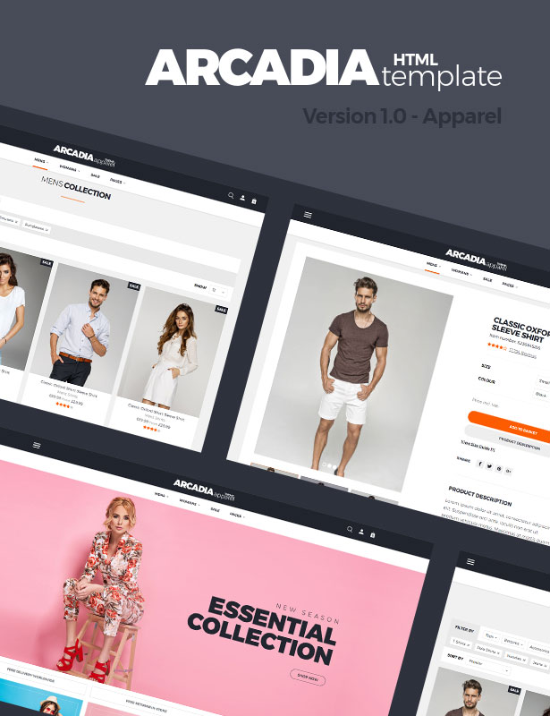 Arcadia HTML Template - Version 1.0 - Apparel