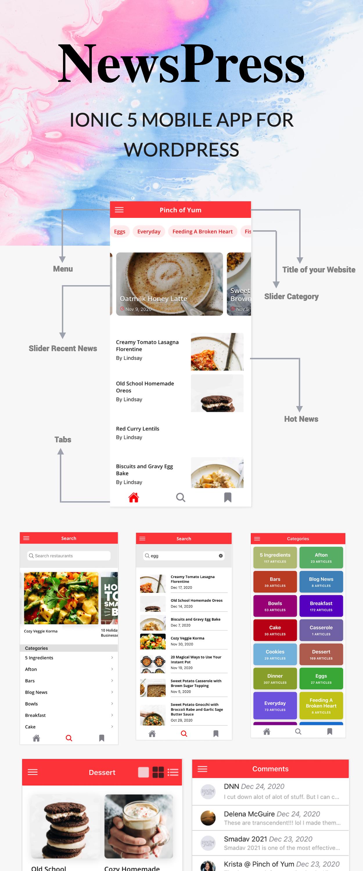 NewsPress - Ionic 5 mobile app for WordPress - 3