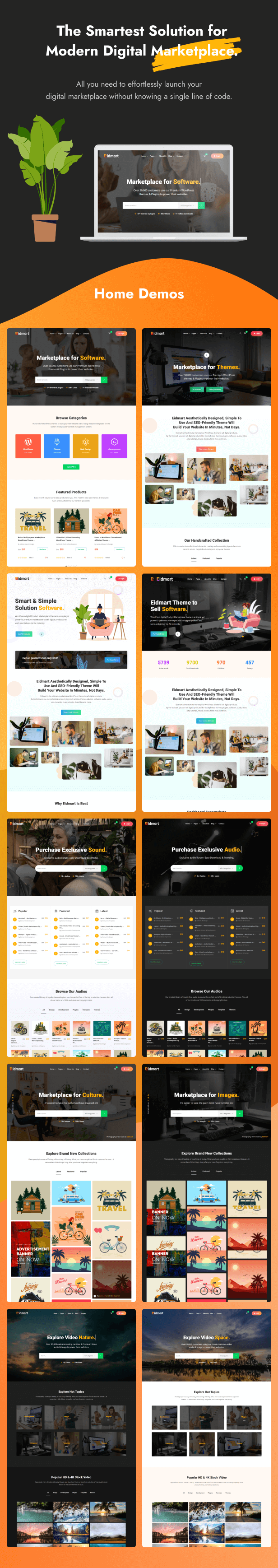 Eidmart   Digital Marketplace WordPress Theme
