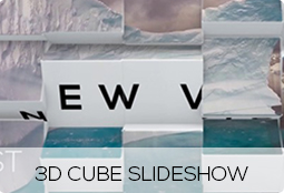 3d cube slideshow
