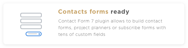 Profi WP Contacts form ready
