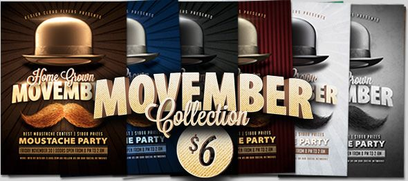 November Party Flyer Template by Design Cloud