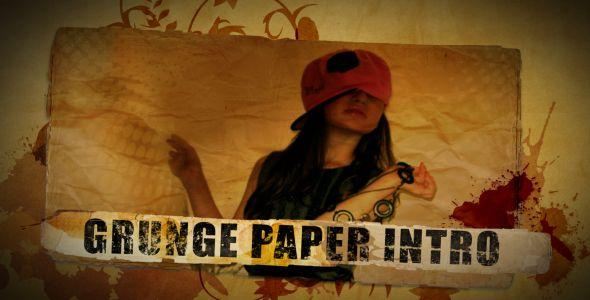 grunge paper intro