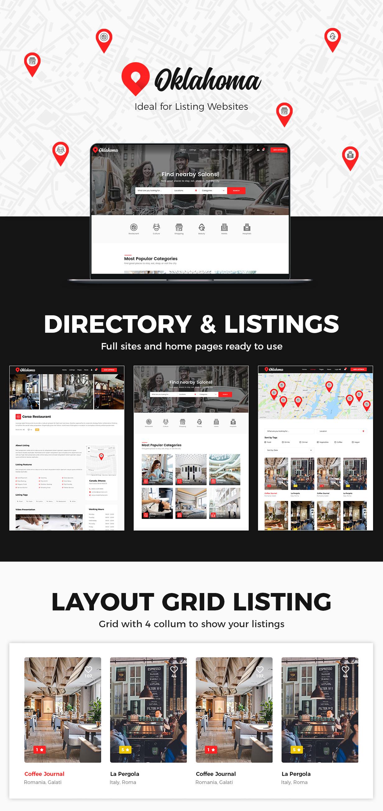 Oklahoma - Directory & Listings WordPress Theme - 3