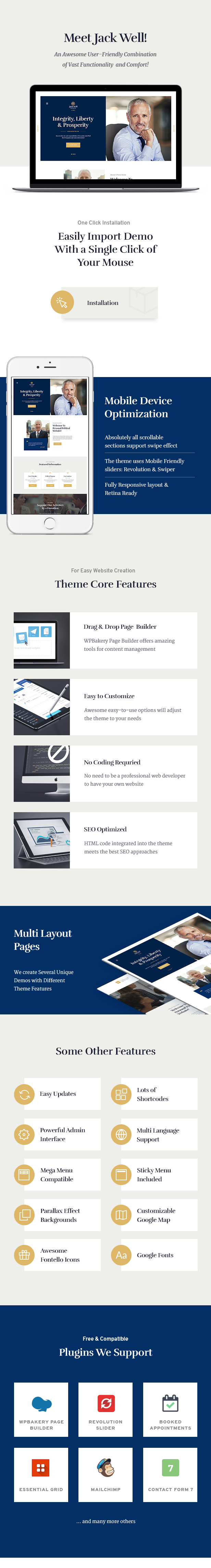 Jack Well | Elections Campaign & Political WordPress Theme - 1