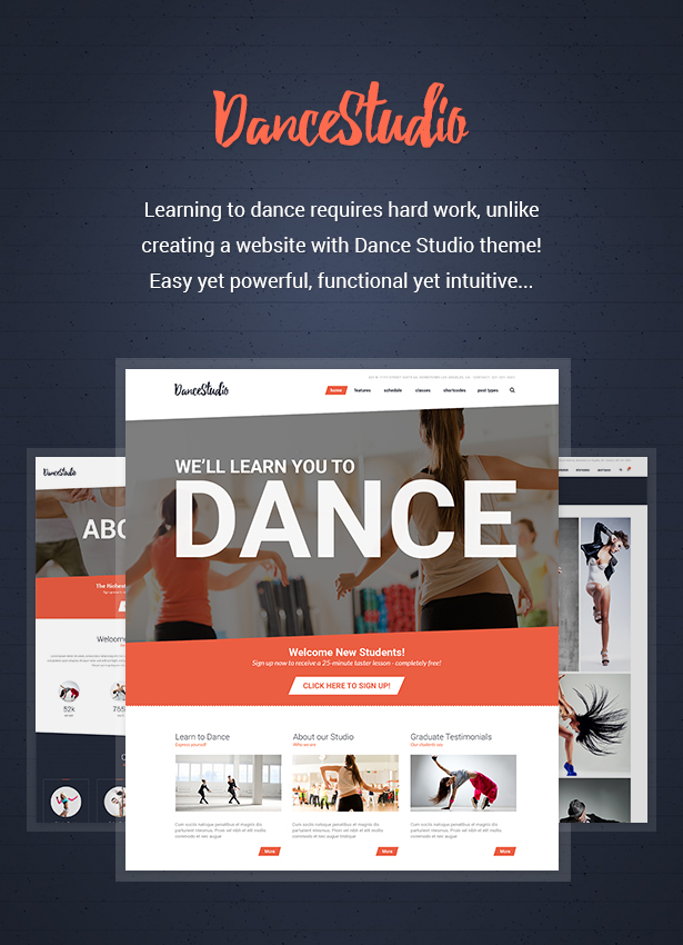 19c9b6b7e2a Dance Studio - WordPress Theme for Dancing Schools   Clubs by cmsmasters