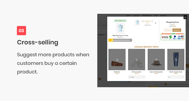 All-in-one shopify theme - cross-selling