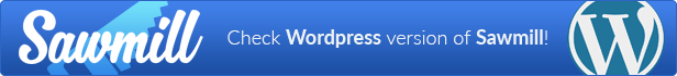Responsive WordPress Landing Page Theme - Sawmill