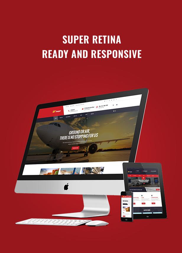 Transport Logistic and Warehouse WordPress Theme - Fully Responsive & Retina Ready