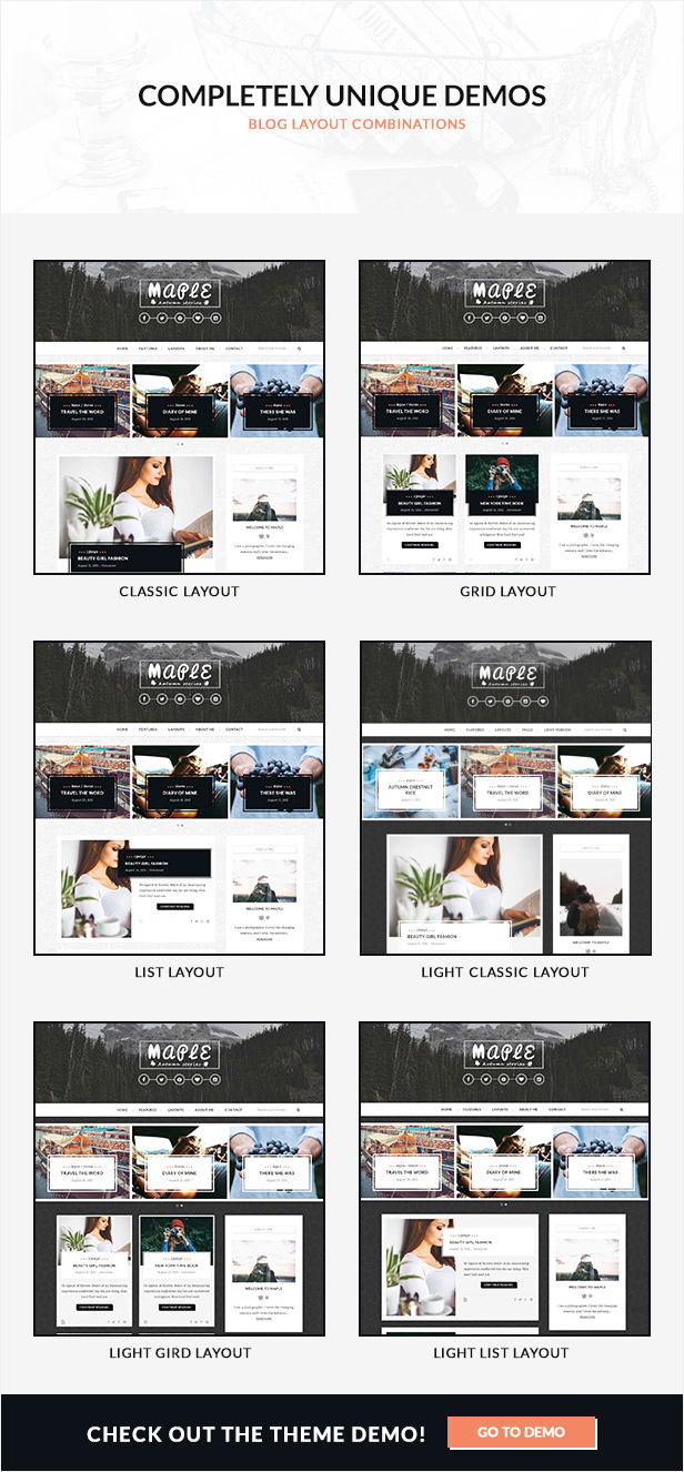 Maple - An Elegant Responsive Blogging Theme by MyTemplatesLab ...