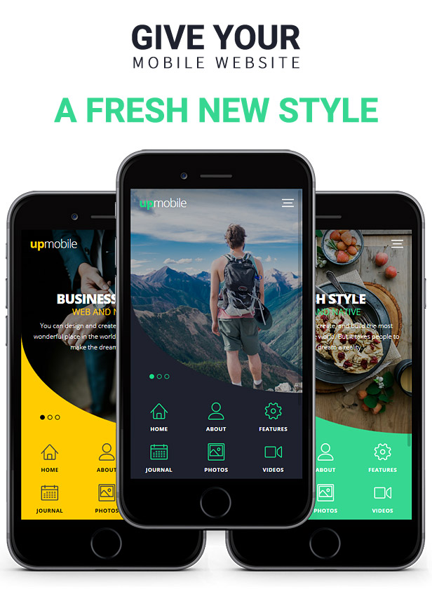 download upmobile html mobile template nulled