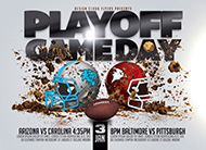 Playoff Game Day Football Flyer Template