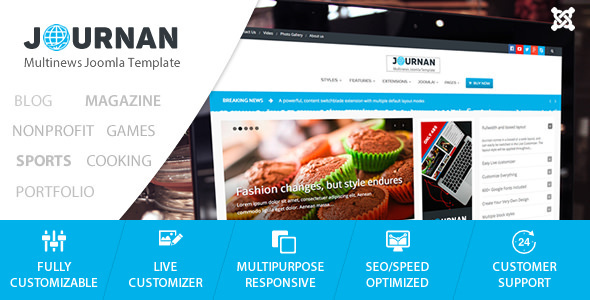 Mazaya Responsive Joomla News, Multipurpose Theme by