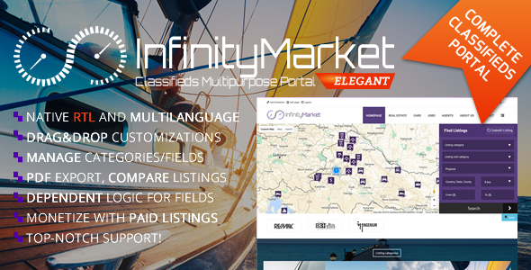 Classifieds Multipurpose Portal - Infinity Market