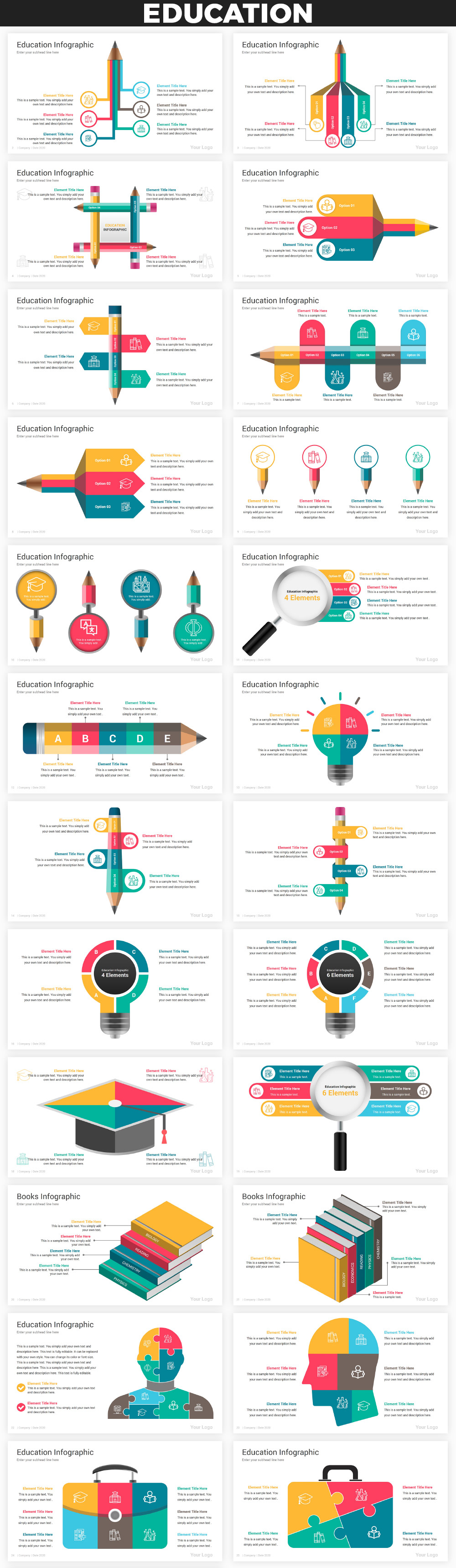 Infographics PowerPoint Bundle - 17