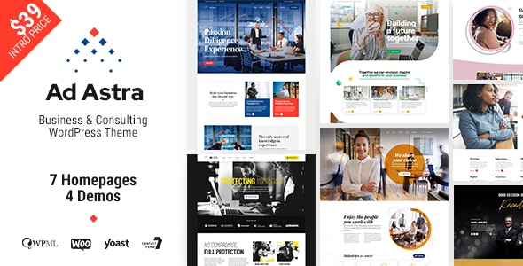 Ad Astra - Business & Consulting WordPress Theme - Business Corporate