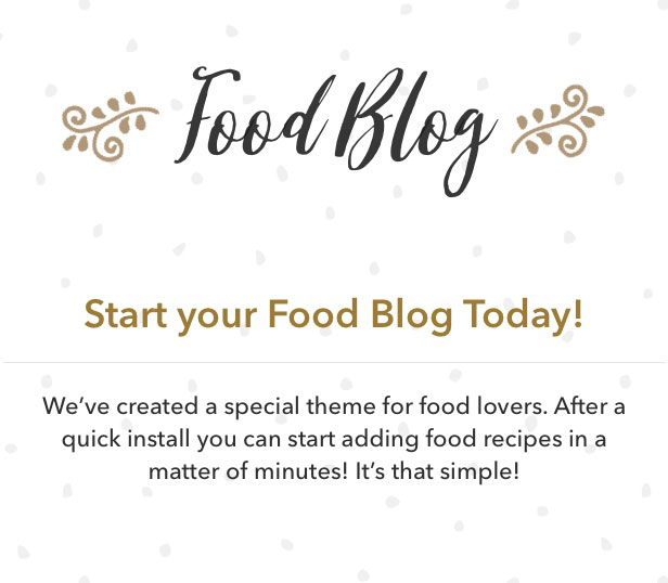 Food blog wordpress theme for personal food recipe blog by osetin created with food bloggers in mind by the authors of a top selling food blog themes show off your personal cooking blog with simple and clean layout forumfinder Choice Image