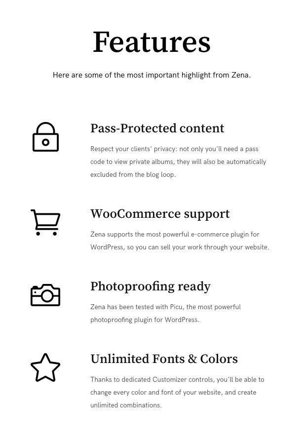 Zena, a minimalistic theme for photographers - 4